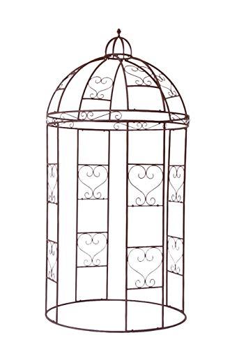 Unbekannt VARILANDO® Verspielter Rosenbogen aus Metall als Deko-Pavillon Rank-Hilfe Rosen-Bogen Wuchs-Hilfe