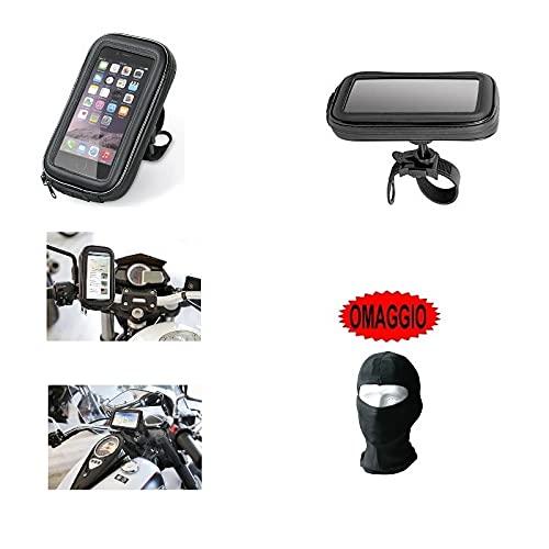 Porte téléphone portable Smartphone Téléphone Coque de guidon 90423 Lampa vélo moto pour Suzuki JR 50 1993 – 93