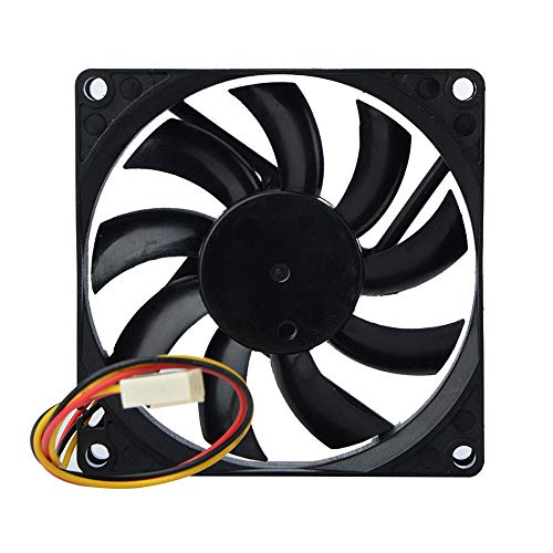 PanYFDD Ventilador del ordenador 12 V 3Pin alambre 80x80x15mm refrigeración ventilador para PC PC PC caso CPU