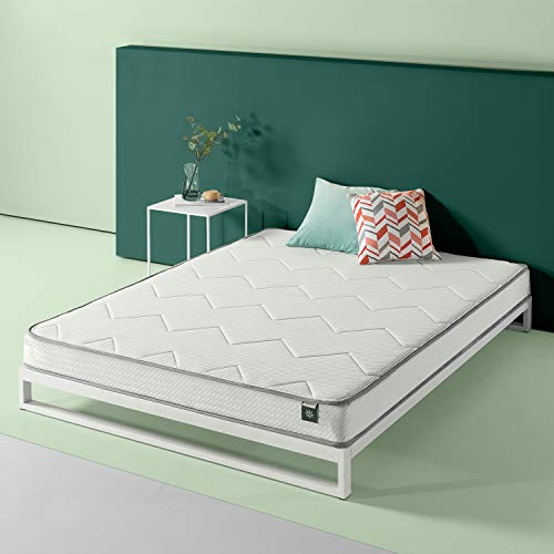 Zinus 6in Charcoal Tight Top Bonnel Spring Mattress, Full