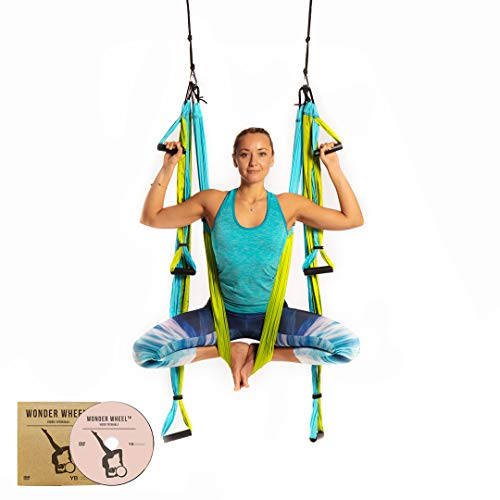 Why Should You Buy Yoga Trapeze [official] – Yoga Swing/Sling/Inversion Tool, Blue/Green by YOGABO...