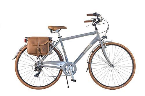Canellini Via Veneto by Fahrrad Rad Citybike CTB Herren Vintage Retro Dolce Vita Aluminium grau Grey (54)