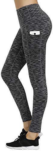 LifeSky High Waist Yoga Pants Workout Leggings for Women with Pockets Tummy Control Soft Pants, S