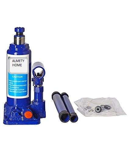 Almety Home Bloom || MBK Super Premium Heavy Car Hydraulic Jack for All Cars (Universal) (Blue & Red) G-99