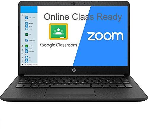 2020 HP 14 14.0' Laptop Computer/ AMD Athlon Silver 3050U Up to 3.2GHz (Beats i5-7200U)/ 4GB DDR4 RAM/ 128GB SSD/ 802.11AC WiFi/ Bluetooth 4.2/ Type-C/ HDMI/ Black/ Windows 10 Home S/ SPMOR MousePad