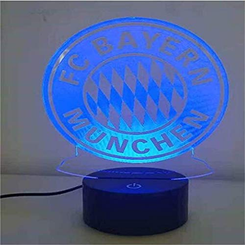 HLHHL-Lamp Lampe éConomie De TrophéE 3D Night Light/LED, 7 Couleurs, Lampe De Chevet, Commande Tactile/à Distance, Base Noire, œUvres d'art en Acrylique
