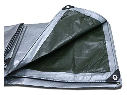 Sheet Covers Lonas Impermeables Espesa la Lona con Ojales de Tierra Toldo Carpa Resistencia al desgarro Reforzado a Prueba de Lluvia Parasol PE al Aire Heavy Duty UV Lona Resistente 916