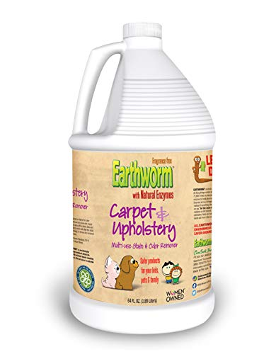 Earthworm Carpet & Upholstery Cleaner Multi-Use Stain & Odor Remover - Natural Enzymes, Safer for Family, Environmentally Responsible - 64 oz