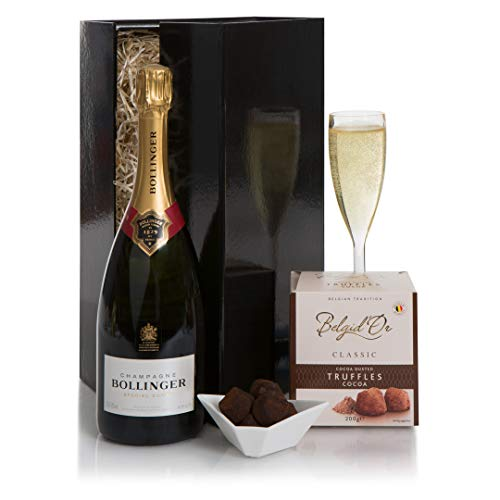Bollinger Champagne and Truffles Hamper - Champagne Gifts And Champagne Gift Hampers - Champagne and Chocolates - Gift For Him or For Her