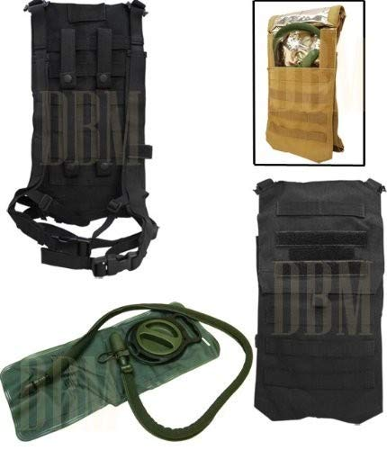 Black Molle Tactical Oasis Hydration Backpack Pack Water Bladder Carrier Holder