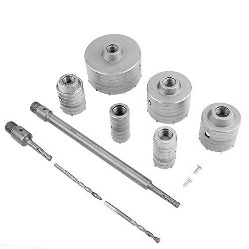 NBKing 10 PCS TCT Core Drill Set TCT Core Drill Set SDS Plus Extension Shank Tungsten Masonry Hole Cutters
