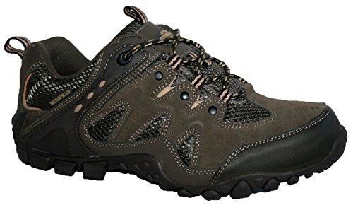 Northwest Territory Mens Nevada completamente impermeabile camminata/escursionismo scarpe stringate, Verde (Khaki Waite), 47 EU
