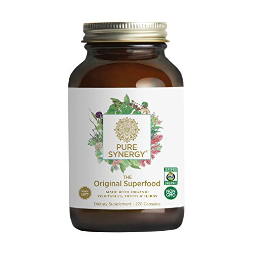 Pure Synergy Green Superfood (270 Capsules) 60+ Greens, Veggies, Herbs for Energy & Wellness