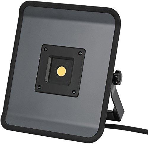 Brennenstuhl Compact LED-Leuchte / LED Strahler mit 30W Leistung und 5m Kabel (Baustrahler für außen und innen, ideal als Arbeitsleuchte) grau