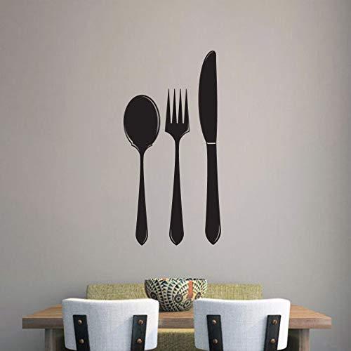 Löffel Gabel Messer Wandtattoo, Küche Wandkunst, Utensilien Wanddekoration, Besteck Wandtattoos