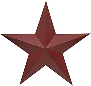 Craft Outlet Inc Craft Outlet 11'' Red Antique Star Wall Decor Set of 2, 11