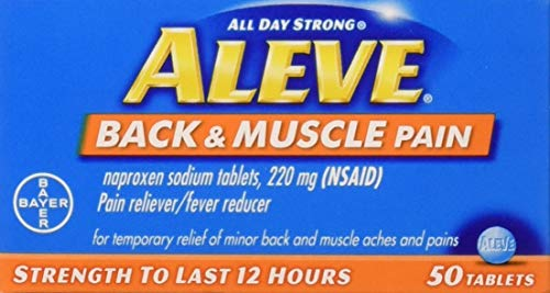 Aleve Back & Muscle Pain 50 Tablets (Pack of 2)