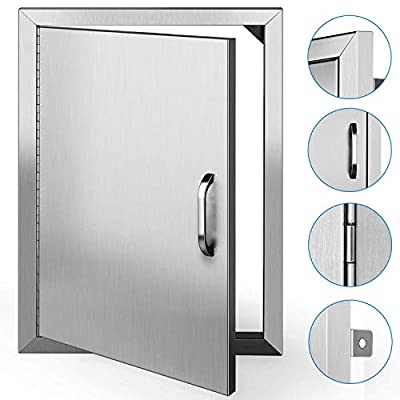 TUSY BBQ Access Doors 20 x 14 Inches Brushed Outdoor Kitchen Stainless Steel Door Island or Grill Cabinet