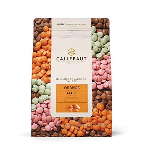Callebaut Callets Orange 2,5kg, Coloured and Flavoured Chocolate, Orangenschokolade