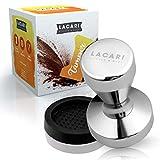 LACARI Coffee & More Tamper – [51mm] Espresso Tamper – Ideal für Siebträgermaschinen – Aus einem Stück Edelstahl gefertigt – Hochwertige Kaffeepresse – Mit Tampermatte