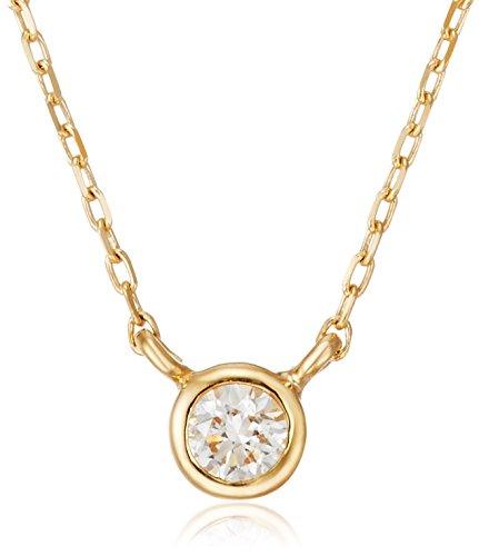 [VAヴァンドーム青山] VA VENDOME AOYAMA K18 YG ダイヤモンド 0.05ct ベゼル 一石 ネックレス GGVN006540DI