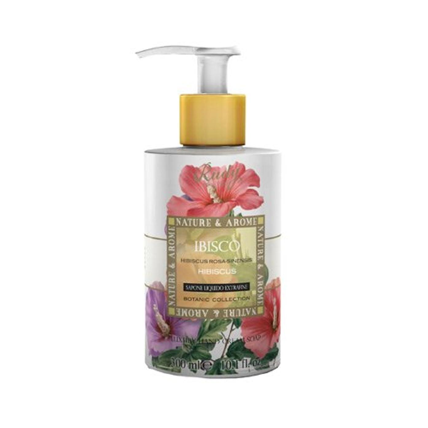 モジュール感情の嘆願RUDY Nature&Arome SERIES ルディ ナチュール&アロマ Liquid Soap リキッドソープ ハイビスカス