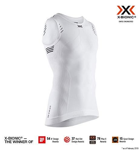 X-Bionic Invent Light Singlet Men, T Shirt Uomo, Arctic White/Opal Black, L
