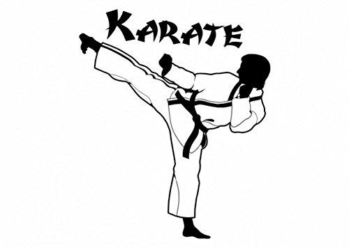 Wandtattooladen Wandtattoo - Karate Kampfsport Größe:58x70cm Farbe: schwarz