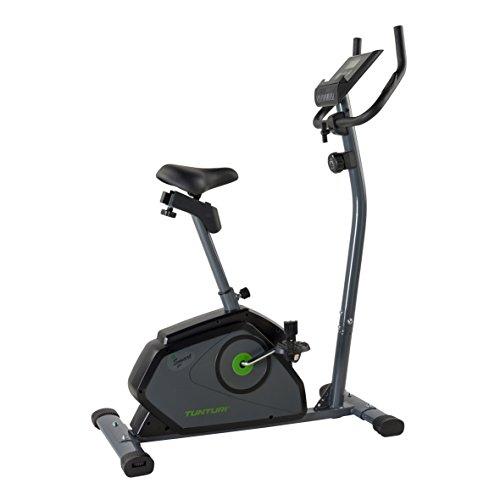 Tunturi Cardio Fit B40 Cyclette, Unisex – Adulto, Grigio/Verde, 103 x 50 x 130 cm