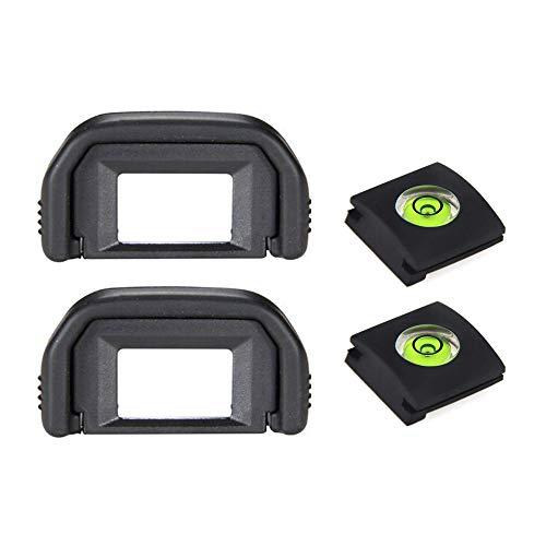 Ocular de visor de ojos 250D para cámara Canon EOS 250D 200DII 200D 100D 800D 1500D 1300D 1200D, sustituye a Canon EF & Hot Shoe Cover [2+2 unidades)