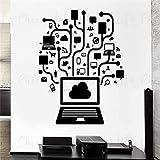DOUMAISHOP Online Computadora Pared Sticker Social Network Set Vinilo Pegatinas de Pared Decoración de Oficina Gamer Internet Sistema Vinilo Adhesivo Decorativo Murales Ac391