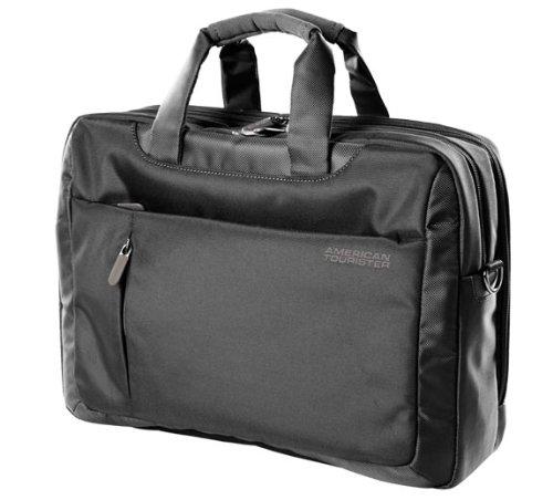 American Tourister 13 Lts Activair 3 Way Polyester Laptop Bag (Black) (56T (0) 29 008)