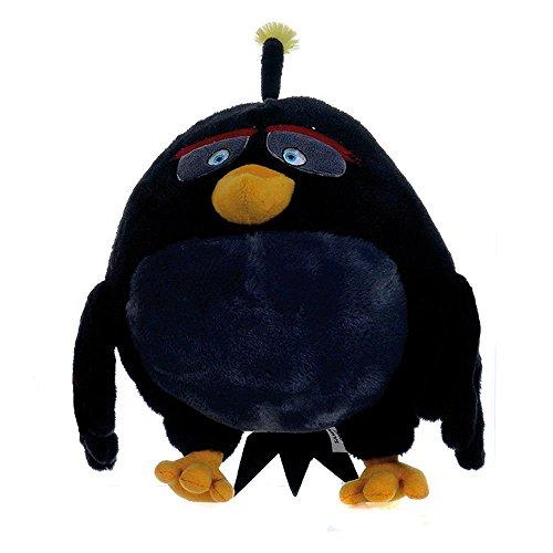 Bomb Pajaro Negro 30cm Muñeco Peluche Pelicula Video Juego Angry Birds Red Bird 30cm Original Rovio Nuevo Super Suave Gran Calidad
