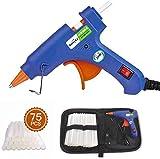 Pistola Colla a Caldo, Mini Pistola a Caldo con 75 Pezzi Stick inclusa una borsa degli att...