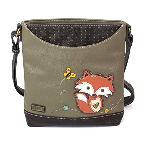 Chala Handbags Sweet Messenger Mid Size Tote Bag Fox Olive