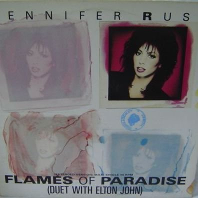 Jennifer Rush Duet With Elton John - Flames Of Paradise - CBS - 650865 6