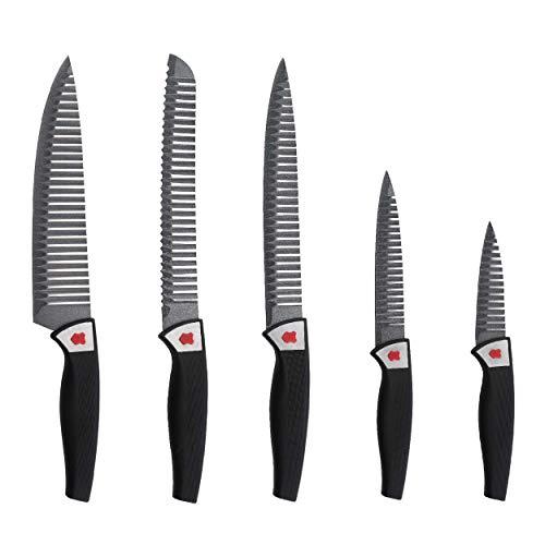 Renberg Messerset 5 tlg Messer Kochmesser Schneidmesser Brotmesser Gemüsemesser