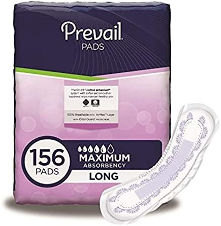The Amazing Prevail PV-915 Bladder Control Pad-Maximum -Long-156/Case