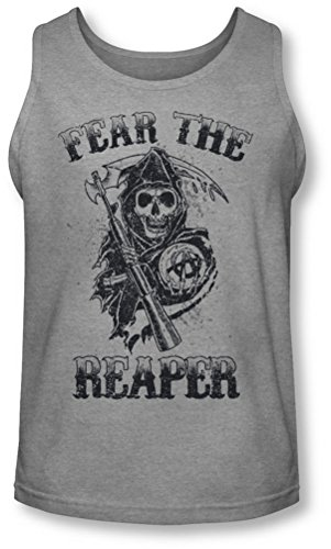 Sons of Anarchy - Sons Of Anarchy - Hombres temas a la muerte Tank-Top, X-Large, Athletic Heather