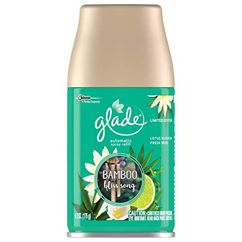 Glade Automatic Spray Air Freshener Refill | Bamboo Bliss Song Scent | Limited Edition - 6.2 Ounce Each (Pack of 3)