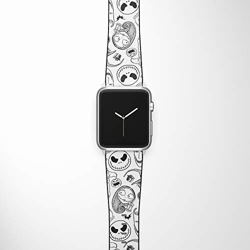 Correa de Reloj Compatible con Apple iWatch All Series 38 mm, 40 mm, 42 mm, 44 mm, Correa de diseño de Dibujos Animados (nbc4)