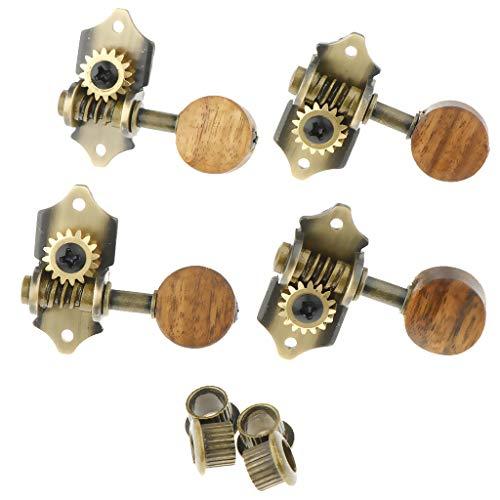 1 Juego de Clavijas de Afinación de Cabeza de Máquina de Ukelele Abierto Claves de Cuerda - 1