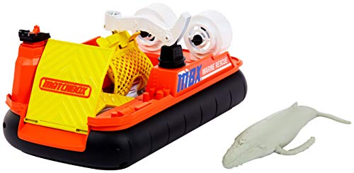 Matchbox Rescue Adventure Set With Vehicle and Animal Figure, Ocean Rescue