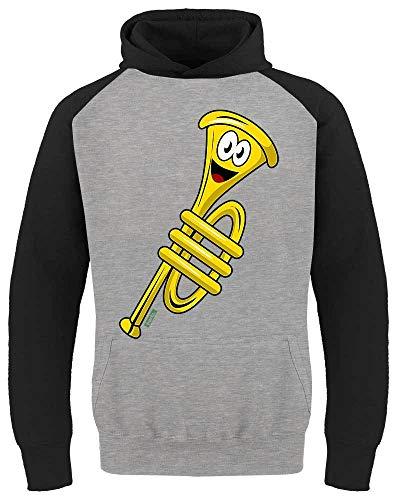 Hariz - Trompeta de béisbol para niños, divertida, con tarjetas de regalo gris claro/negro. 140 cm