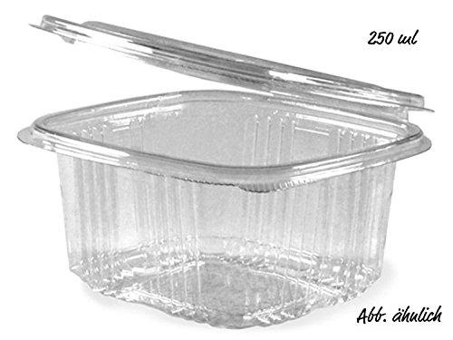 Salat-Klappschale 250 ml mit anh. Deckel (Pack a 50 Stück)