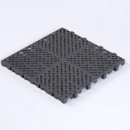 DeepBlue Lot de 6 grilles de stabilisation pour allée de voiture, tapis de sol, gravier, herbe en polypropylène, polyéthylène, pour parking, allée, jardin, piscine - Gris