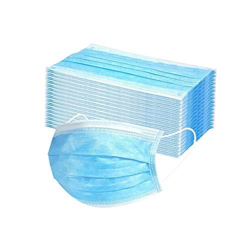 Precioul Schuhe Mundschutz Maske 50 Stück Mundschutz Erwachsene 3 lagig Einweg Mundschutz Anti-Fog und Staub Abdeckung Mundschutz Atemschutz Gesundheits-und Hygienische