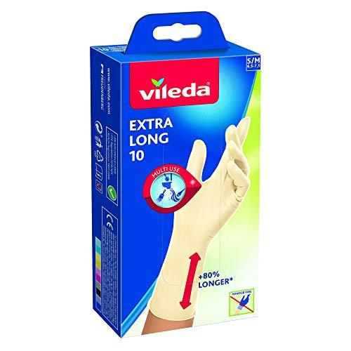 Vileda Extra Long Handschuhe, Latex, Größe S/M