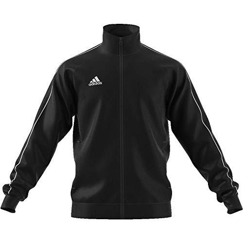 adidas Men's Core 18 Polyester Tracksuit Jacket, Black/White, 3XL