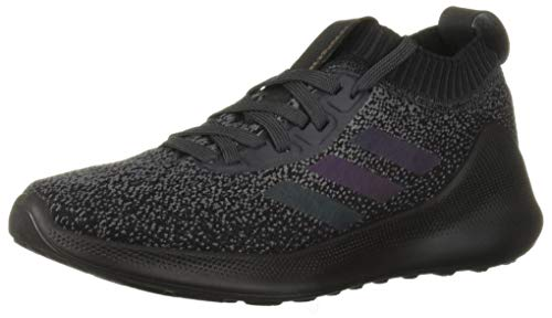 adidas Women's PureBounce+ Running Shoe, Carbon/Black/Black, 8.5 M US